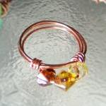 Ring sz 7 - Shades of Amber..