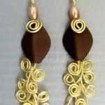 Dangling Earring Pair, Gold..